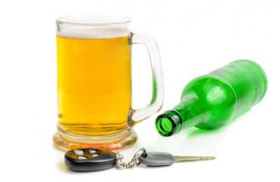 beer glass and car keys
