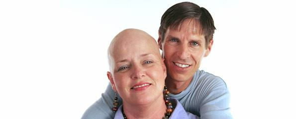 cancer patient with supporting partner